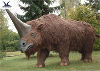 Playground Zoo Park Decorative Large Artificial Animatronic Animal With Fur