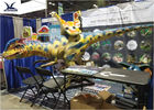 Game Center Animatronic Large Dinosaur Ride On Toy Przeprowadzka Moneta Operowane Ride On Car