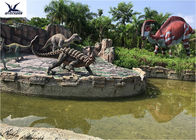 Animated Silicon Outdoor Dinosaur Statues Amusement Park Equipment