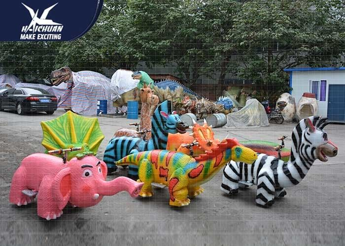 Coin Operated Motorized Animal Scooters Shopping Mall Decoration Dinosaur Bones